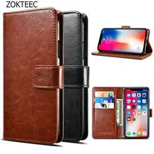 ZOKTEEC Luxury Flip Leather Case on For Huawei Y6 2018 back cover phone PU Prime with Card Holder