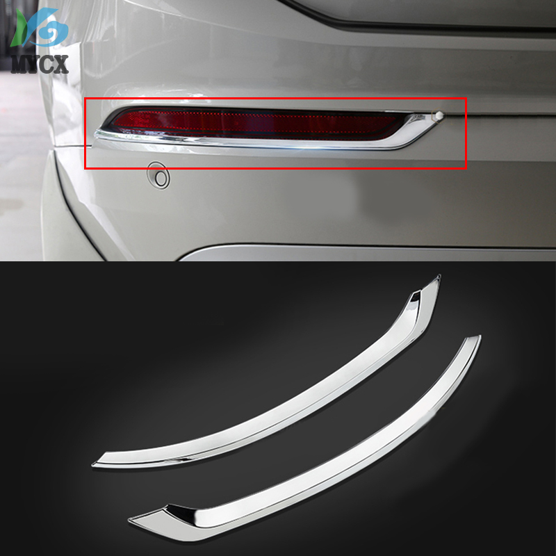 Accessories 2pcs ABS Chrome REAR FOG LAMP COVER TRIM FITS FOR <font><b>VOLVO</b></font> XC90 <font><b>XC</b></font> <font><b>90</b></font> 2016 <font><b>2017</b></font> 2018 2019 Car styling image