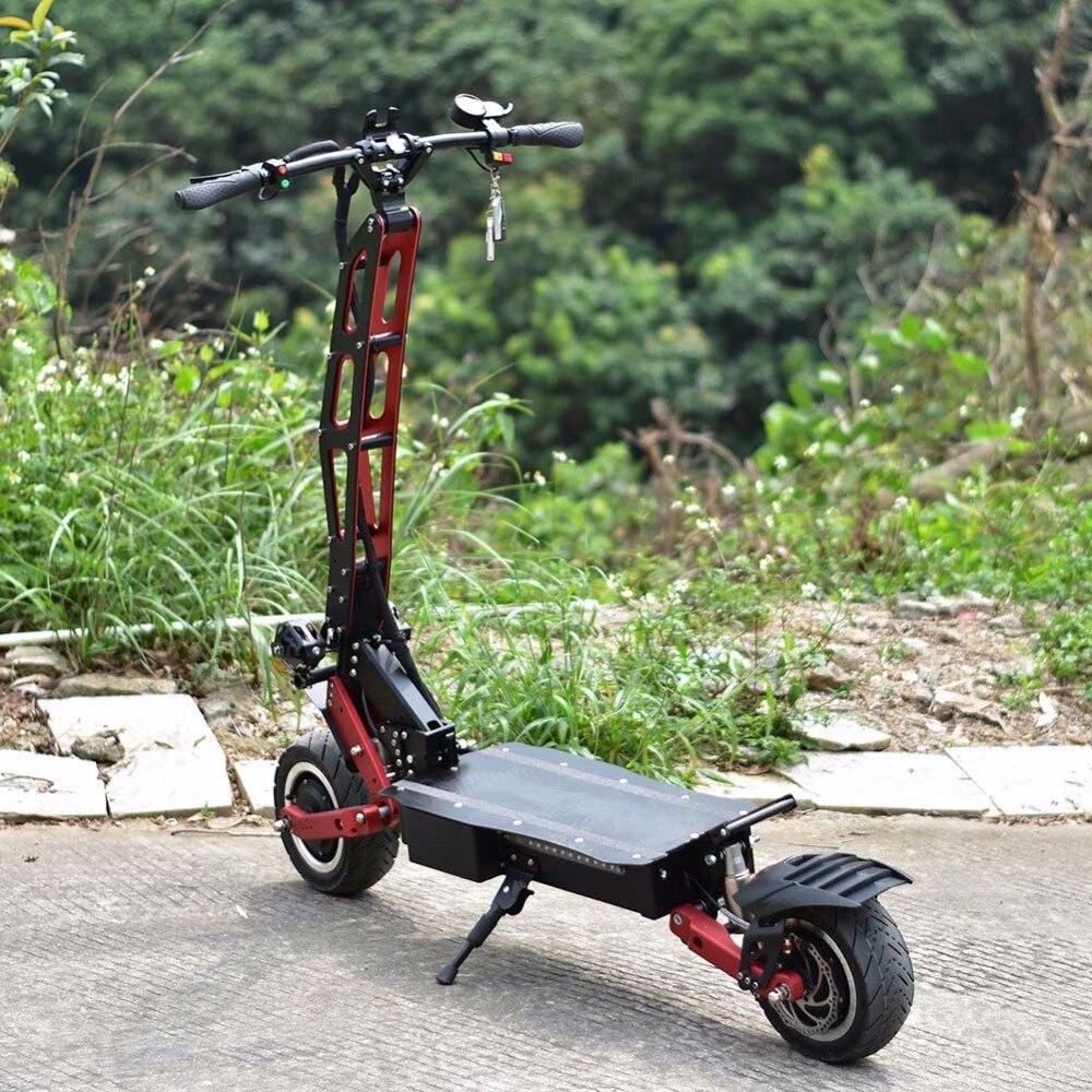 85 KM/h vitesse rapide 3 vitesse grande roue Scooter électrique pour adultes avec 3200 W puissance e hors route gros rouleau, planche à roulettes/planche à roulettes