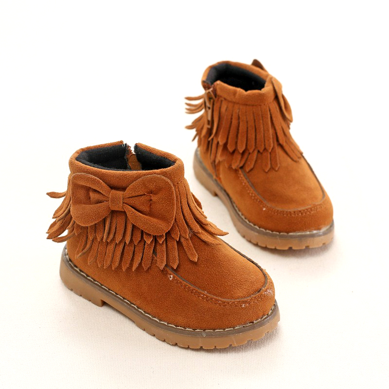 Aliexpress.com : Buy Flock Kids Fringe Boots Girls Fall Tassel ...