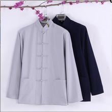 Plus Size XXXXL Long Sleeve Man Tang Suit Traditional Chinese Clothes Tang Suit Top Men Kung Fu Uniform Outfit Clothing For Men