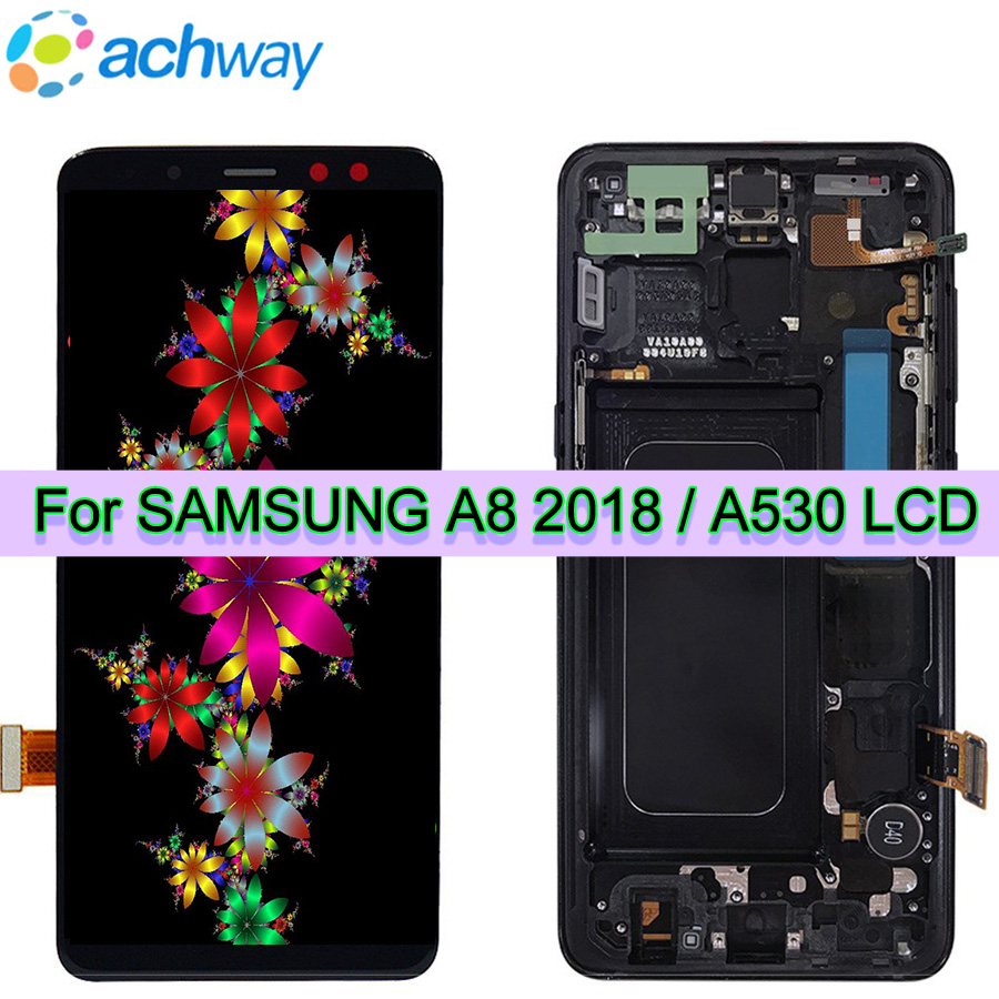AMOLED Screen For SAMSUNG GALAXY A8 2018 LCD A530 Display Touch Screen Digitizer Assembly Replacement For 5.6 SAMSUNG A530 LCDAMOLED Screen For SAMSUNG GALAXY A8 2018 LCD A530 Display Touch Screen Digitizer Assembly Replacement For 5.6 SAMSUNG A530 LCD