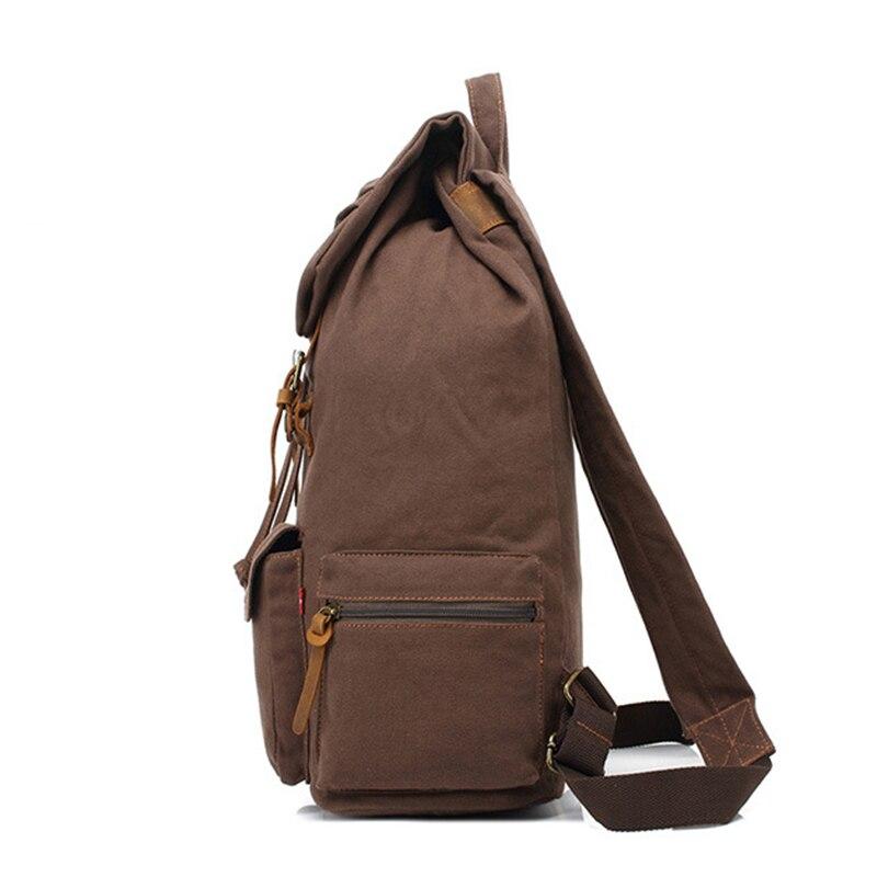 TOP POWER Men Backapck Fashion Zipper Solid Canvas Backpack School Bag Womens Travel Bags Large Capacity Travel Backpack Bag