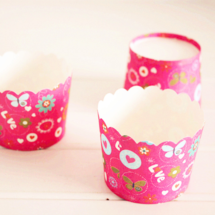 Home Cake Decorating Supply Co: Free Shipping Love Decoration Small Cupcake Cup Muffin