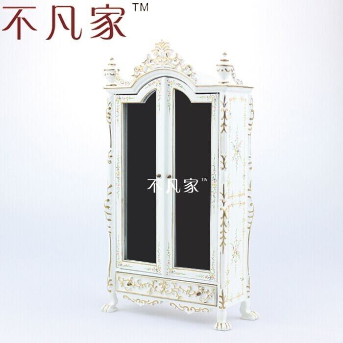 цена на 1:12 scale Fine Dollhouse miniature furniture white cabinet