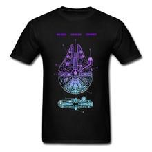 Falcon Millennium Star Wars Tatooine Tshirt Mos Eisley Schematics Spaceship Starwars 100% Cotton Black T-shirts Casual Brand