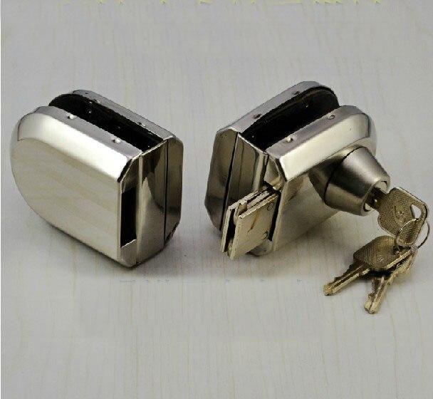 Stainless Steel Glass Door Clamp Lock(3 Computer Keys)Stainless Steel Glass Door Clamp Lock(3 Computer Keys)