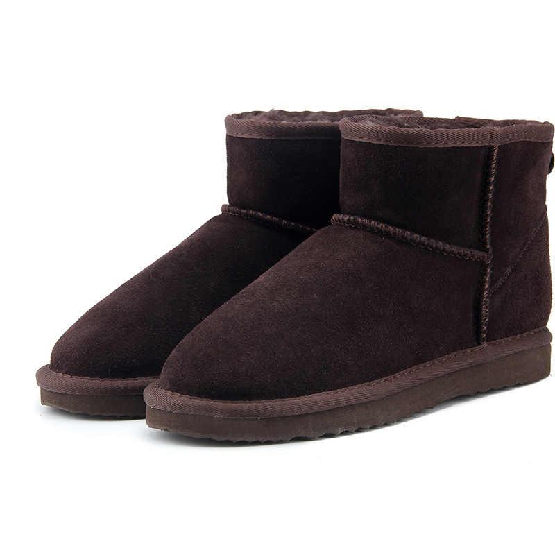 MBR KRAFT Hohe Qualität Echtes Leder Australien Klassische 100% Wolle schnee stiefel Frauen Stiefel Warme winter schuhe für frauen UNS 3-13