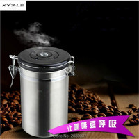 XYZLS High Quality Stainless Steel Sealed Cans Pots Storage Spice Jar with Exhaust Valve Cover Coffee Tea Beans Milk Powder Food