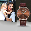 Reloj 2017 Bestselling Waterproof Women Slim Big Dial Business Sport Leather Quartz Wrist Watch  17feb13
