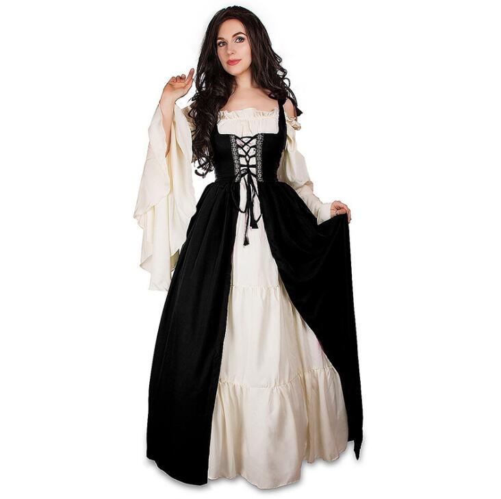 2019 retro party Renaissance Victorian Medieval Gothic Long Dresses plus si Maxi ball gown Middle Ages Prom dress plus size 5XL in Movie TV costumes from Novelty Special Use