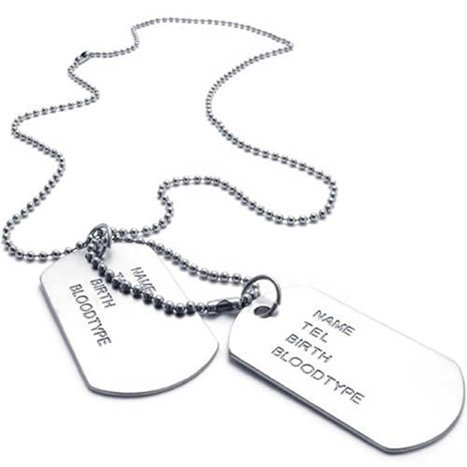 Aliexpress buy army style 2pcs dog tag pendant mens necklace aliexpress buy army style 2pcs dog tag pendant mens necklace chain silver from reliable tag pendant suppliers on jonline24h official store aloadofball Gallery