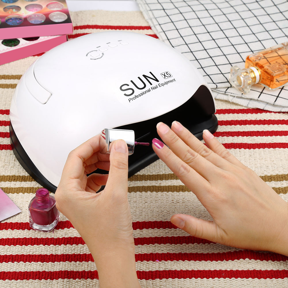 SUN X5 Ultraviolet LEDs Lamp for Gel Nail Polish LED Ice Lamp Nail Gel Polish Dryer Manicure Drying Machine for All Gel Nails recette merveilleuse ultra eye contour gel by stendhal for women 0 5 oz gel