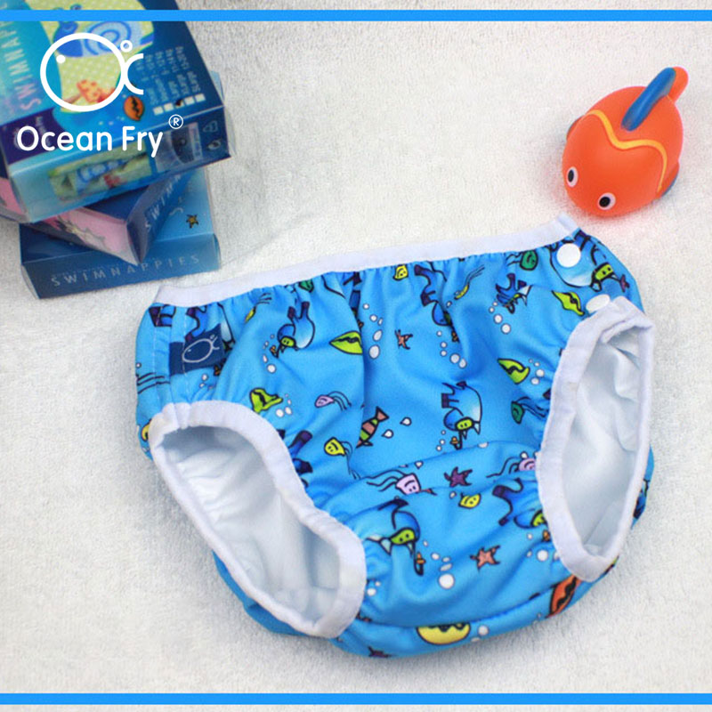 Diaper Swim Pants For Newborn Baby Swimwear Leak Proof Cute Waterproof Nappy Toddler Infant Swimming Diapers Dropshipping