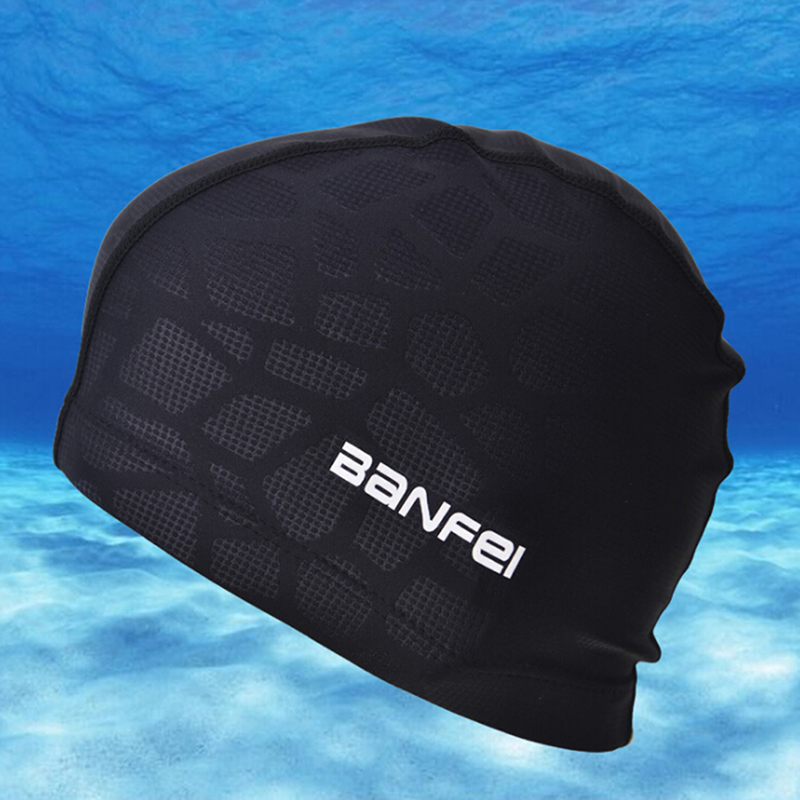 High Elasticity Waterproof Fabric Protect Ears Long Hair Sports Swim Pool Hat Shark Flexible Durable Swimming Cap for Men Women(China)