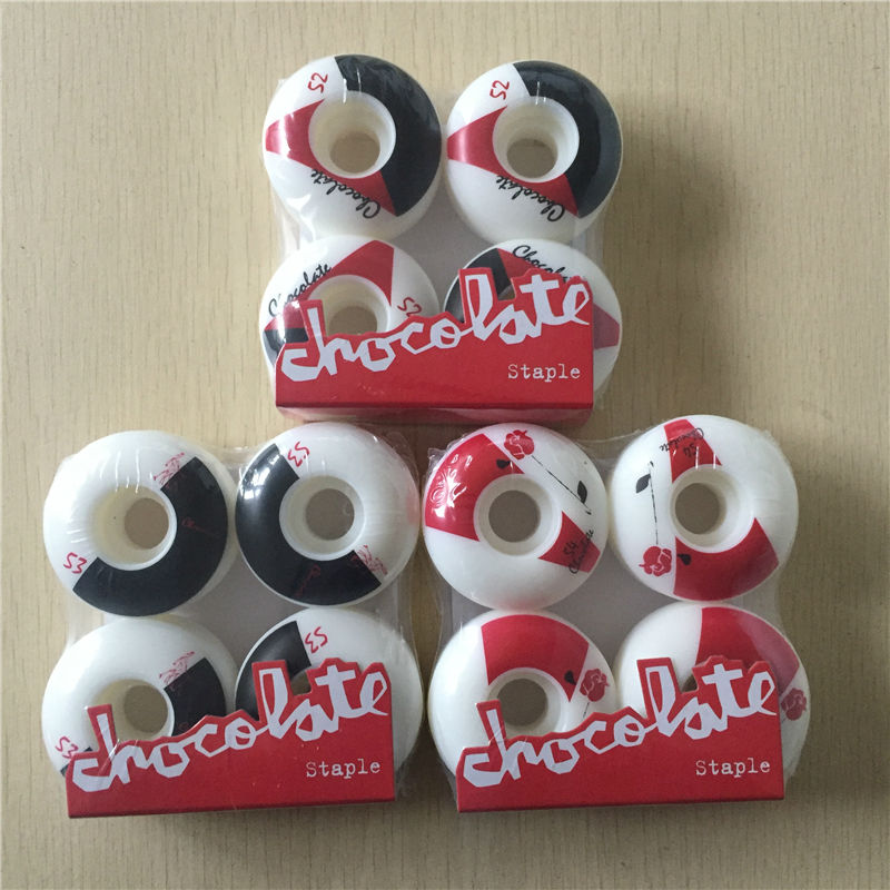 52-53MM 101A 4pcs/Set 2017 Chocolate Wheels For Skate Board Decks Skateboard Wheels Green PU Ruedas Patines Sliding Rodas Skate