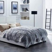 Мериносовый ворсистый ковер из овчины, 10 P, меховой коврик для кровати, зимний коврик, овечья кожа, меховой ковер для спальни, покрывало из овечьего меха