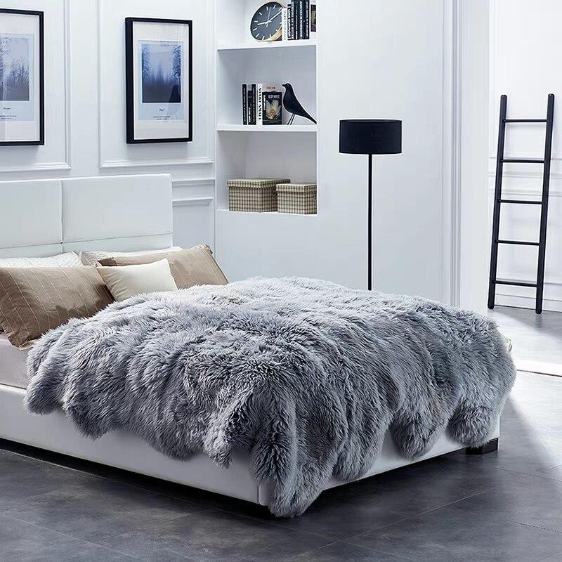 Мериноса лохматый ковер овчины 10 P меховой коврик для кровати коврик для зимы, овчина мех спальня слайд ковер, овечьем меху кровать одеяло