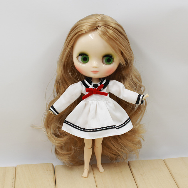 Clothes For Middle Blyth Doll 1 Piece Dress Sailore Style