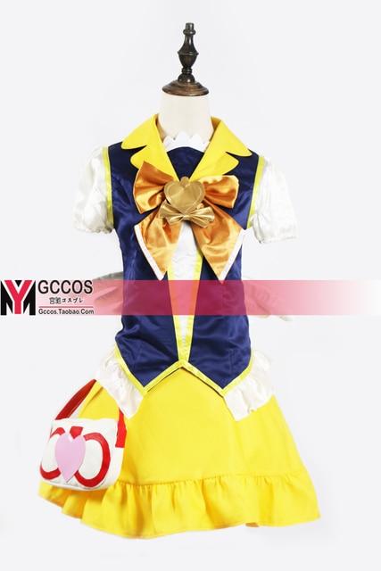 Kirakira Довольно вылечить La Mode Косплэй костюм PreCure счастье зарядки вылечить Мёд форма Карнавальная одежда костюм