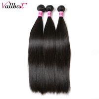 Vallbest Peruvian Straight Hair Human Hair Bundles Hair Weave Extension Non Remy Hair Natural Black 100g/piece Free Shipping