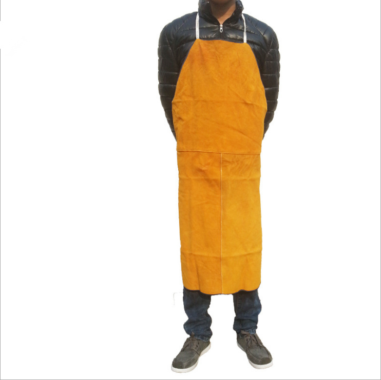 FGHGF Welders Dual Leather Welding Cutting Bib Shop Apron Heat Resistant Workplace Safety Safety Clothing Self Protect safurance welders dual leather welding