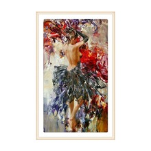 Full round diamond 5D DIY sexy beauty embroidery cross stitch mosaic decorative painting gift