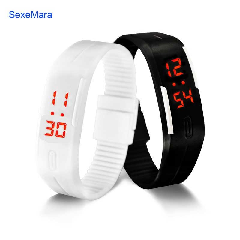 Korean Lovers Men Women Watches LED Digital Watch Electronic Wristwatches Creative Calendar Colorful Rubber Smart Montre Femme