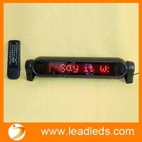 (6 יח'\חבילה) 12 V LED רכב סימן נע הודעת גלילה, יכול לתמוך ספרדית, צרפתית, אנגלית וכן הלאה ארבע שפות