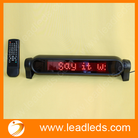 (6 pieces/lot) 12V LED Car Sign Moving Scrolling message ,Can support the Spanish, French, English and so on four languages
