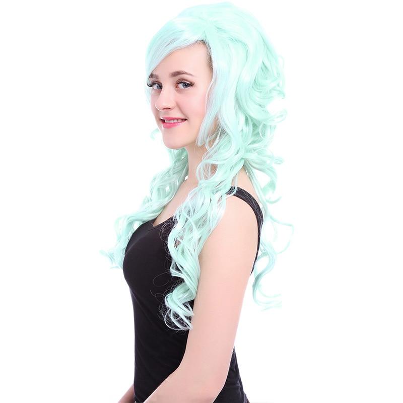 L-email paryk 27,56 tum 70cm Lång Cosplay Parykar 5 Färger Vågigt - Syntetiskt hår - Foto 4