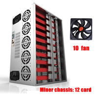 GPU Frame Mining Rig Case Server USB Miner Bitcoin Horizontal Computer ATX 12 Graphics Card Ethereum Machine Chassis