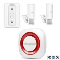 Système de sécurité à anneau sans fil avec détecteur PIR système d'alarme Anti-vol sécurité capteur de mouvement à domicile alerte de porte PIR pour la maison