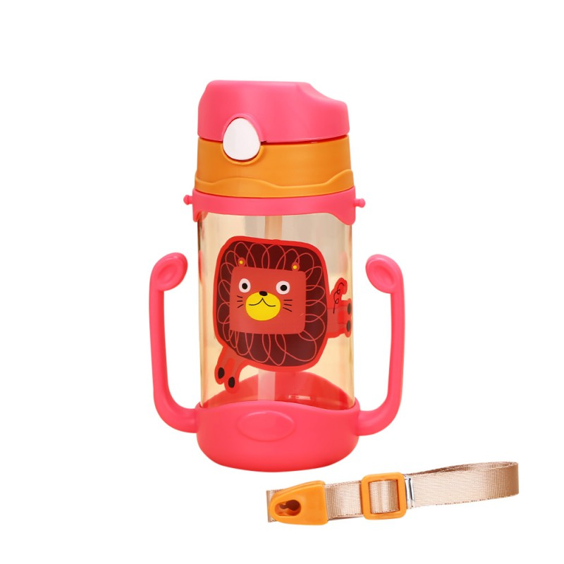 Baby Learning Drinking Water Bottles Feeding Sippy Cups With Handles and Strap Newborns Kids Cute Cartoon Leakproof Cup L1