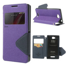 For Sony Xperia C2305 Case Roar Korea Leather Flip View Cover For Sony Experia C S39h Window Display Stand For Sony C2305 bf116