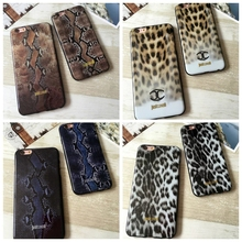 Newest Luxury Fashion Just Cavallis Leopard and Snakeskin Pattern Soft TPU Cover Case for iphone 5 5S SE 6 6S 6Plus Capa Cover