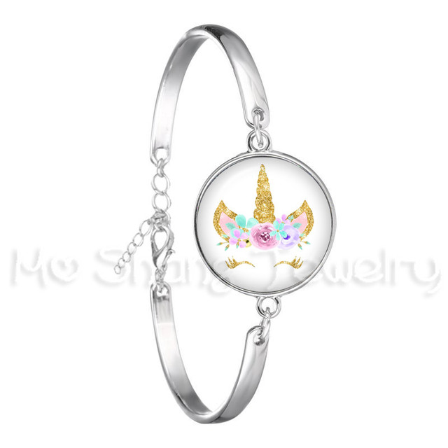 Bracelet For Girls Children Kids Enamel Life Is Magical Unicorn Horse Jewelry Accessories Cartoon Animal Bangle Unicorn Party