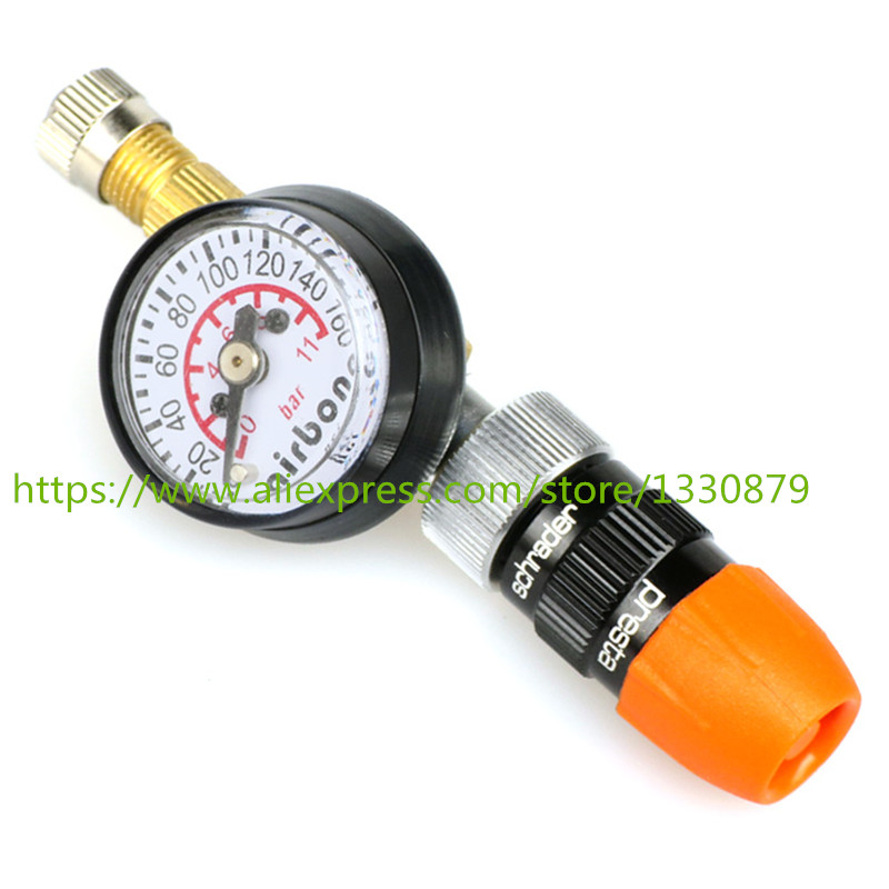 TAIWAN Bicycle Tire Pressure Meter Tire Pressure Gauge Amount of Cycling Road Bike Pump Mountain Bike Tire Pressure Gauge professional 8mm tire pressure gauge w michelin pattern black silver yellow