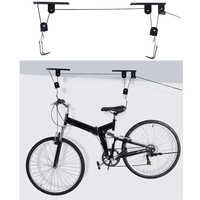 45LB Strong Bike Bicycle Lift Ceiling Mounted Hoist Storage Garage Hanger Pulley Rack Metal Lift Assemblies ciclismo bicicleta