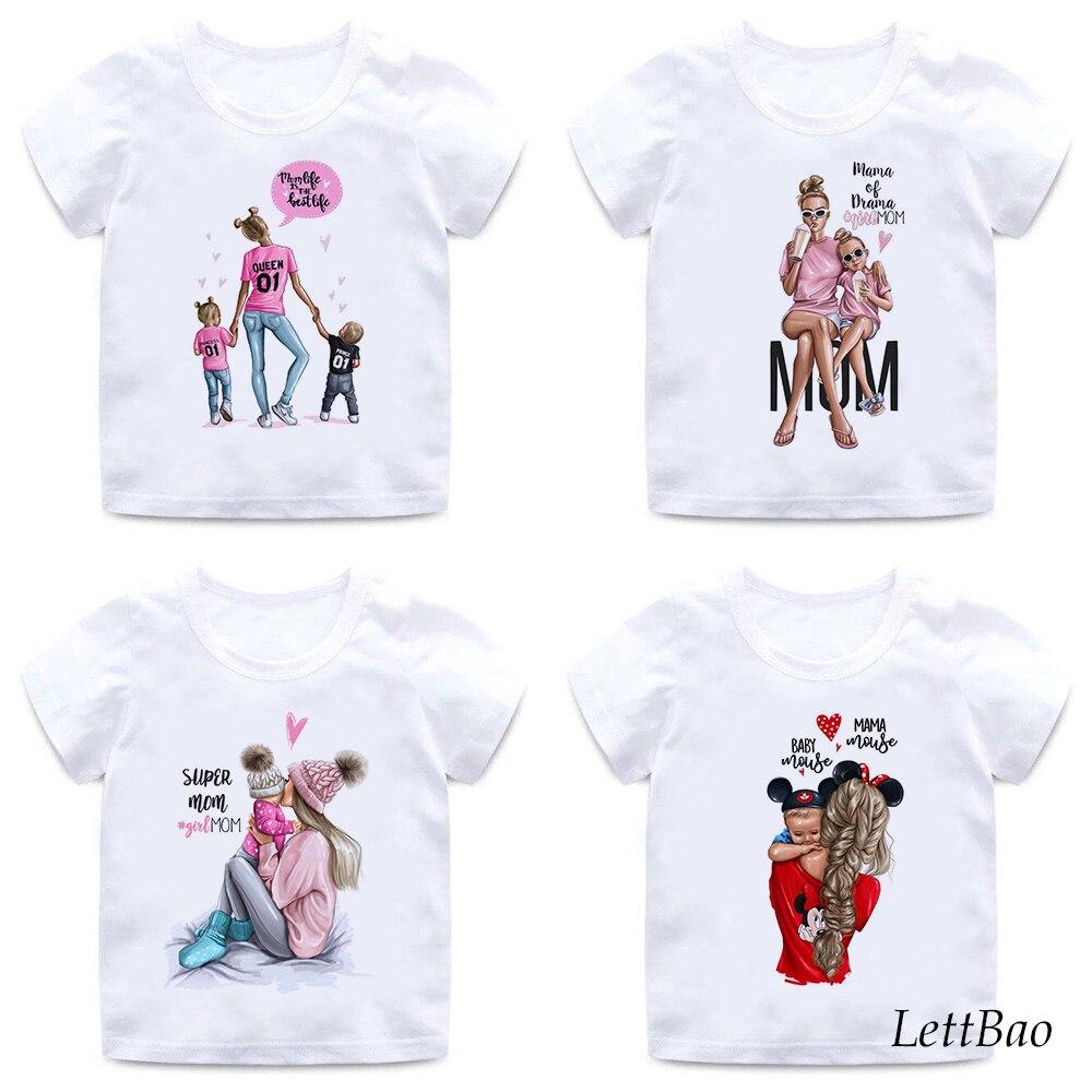 Красивая футболка для мамы и дочки с принтом «супер мама и дочка», для детей 2 12 лет, подарок на день рождения, мягкая хлопковая детская футболка|Тройники| - AliExpress
