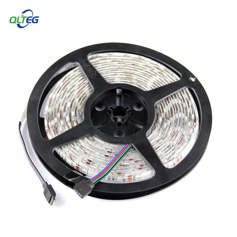 LED Strip SMD 5050 DC 12 V Flexible Light 60LED/M, 5 M 300LED Putih putih Hangat Biru, Hijau, Merah, Kuning