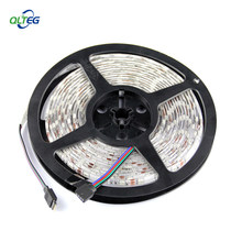 LED Strip SMD 5050 DC 12 V Flexible Light 60LED/M, 5 M 300LED Putih putih Hangat Biru, Hijau, Merah, Kuning(China)