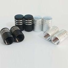 4pcs silver black aluminum alloy wheel dry air valve cap automobile tire general truck bicycle dust
