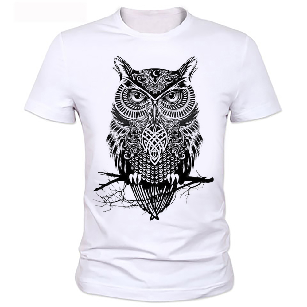 homme owl t shirt mens brand tee shirt 2016 men t shirt summer style men t shirt with funny. Black Bedroom Furniture Sets. Home Design Ideas