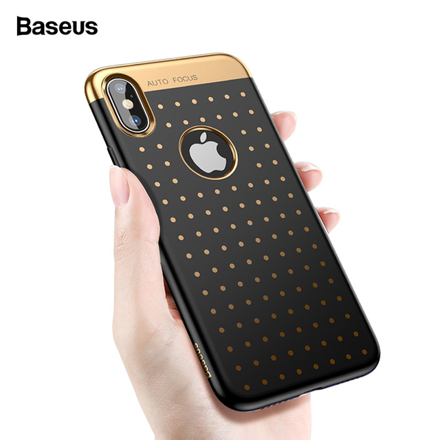 more photos f1887 e516d US $5.91 45% OFF|Baseus Luxury Phone Case For iPhone X 10 Soft TPU  Electroplating Polka Dot Cover Case For iPhoneX Coque Fundas Capa Phone  Bumper-in ...