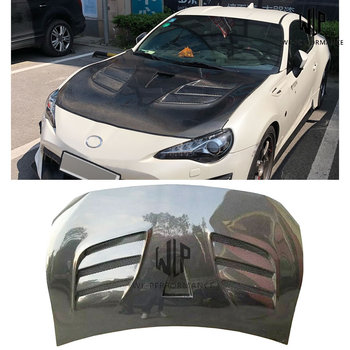 High Quality Carbon Fiber Front Engine Hood Bonnets engine Covers For Toyota GT86 BRZ Car Body Kit 13-17 image