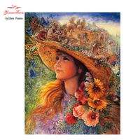 DIY 5D Full Square Diamond Ful DIY Diamond Painting Pond Girl Embroidery Cross Stitch Rhinestone Mosaic