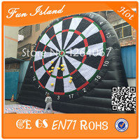 Free Shipping 4m Giant Inflatable Football Dart ,Inflatable Shooting Wall For Sale,Inflatable Target Football Wall
