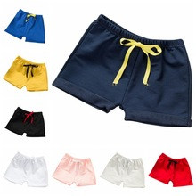 8 farger Sommer Baby Girls Shorts Gutter Beach Bukser Kids Bukser Vanlig Casual Beach Short Bukser Candy Color