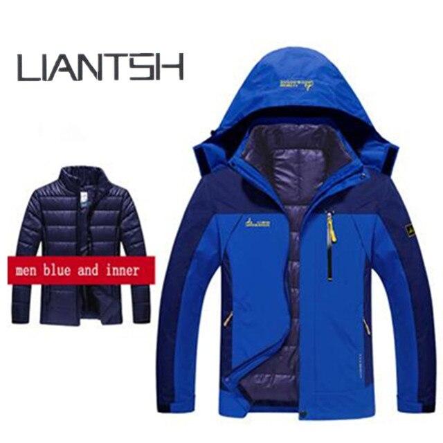 Men S Women Winter Warm Hiking Jackets Hoo Camping Trekking Ski Waterproof Fleece Inside Coats Best